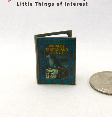 TRISTAN AND ISOLDE Miniature Book Dollhouse Book 1:12 Scale Readable Illustrated