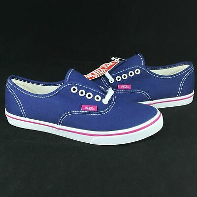 476a35057435 NIB VANS AUTHENTIC LO PRO FUCHSIA RED   True White Canvas Casual ...