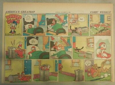 Donald Duck Sunday Page by Walt Disney from 10/27/1940 Half Page Size