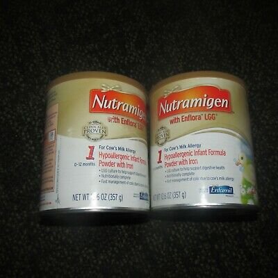 Lot of 2  Nutramigen With Enflora Lgg Powder 12.6oz Cans