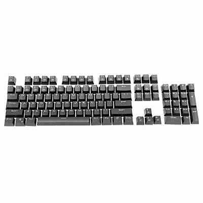 Feicuan Universal 104 Keyset Keycap ABS Colorful Backlit Replacement (Black)