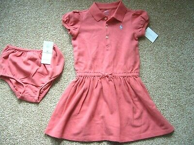 Bnwt Ralph Lauren S/s Cotton Dress & Knickers Set 18 Months