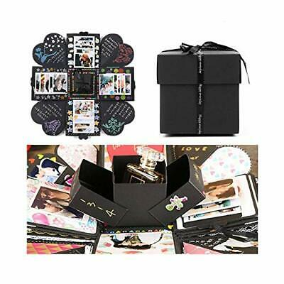 EKKONG Explosion Box Scrapbook Creative DIY Photo Album de Accesorios (Negro)