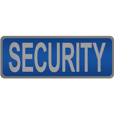 SECURITY Reflective Badge Large BLUE Hook & Loop Door Staff Guard Doorman SIA