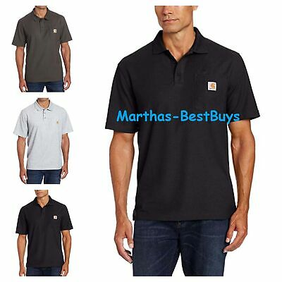951d52e1 Carhartt Mens Contractors Work Pocket Polo Original Fit Size S M L XL 2XL