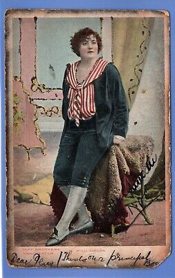 Old Vintage 1905 Postcard Milli Lindon Edwardian Stage Actress