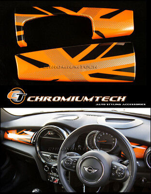 MK3 MINI Cooper/S/ONE F55 F56 Hatch F57 ORANGE Union Jack Dashboard Panel Cover
