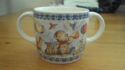 Wedgwood Rambling Ted Two Handle Childrens Drinking Cup
