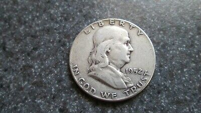 1952 P FRANKLIN SILVER HALF DOLLAR in VERY VERY NICE condition, NICE COIN