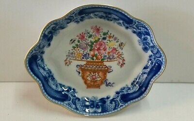 Mottahedeh MANDARIN BOUQUET Scalloped Oval Tray - Dish