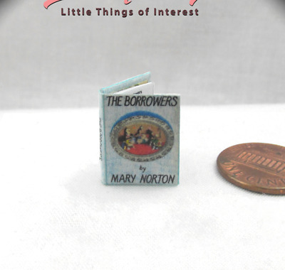 THE BORROWERS Illustrated Miniature Book Dollhouse 1:12 Scale Readable Book