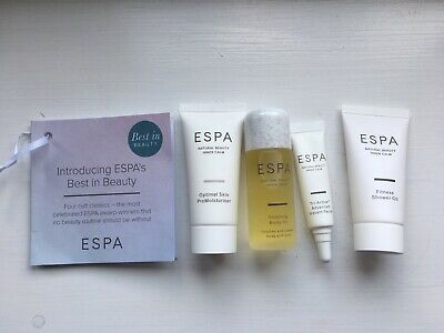 Espa Mini Gift Set - Body Oil, Moisturiser, Shower Oil, Instant Facial - New