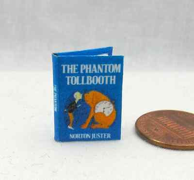 THE PHANTOM TOLLBOOTH Miniature Book Dollhouse 1:12 Scale Readable Illustrated