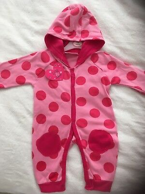 Baby Girl Hooded Cotton Suit . Hooded . 3-6 Months . New