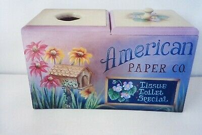 "Cheri Lockart tole painting pattern ""American Paper Co Tissue Holder"""