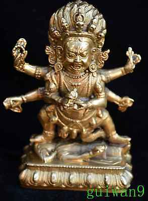 Chinese Art Souvenir Miao Silver Carve Nepal Buddha Old Ancient Tibet Statue