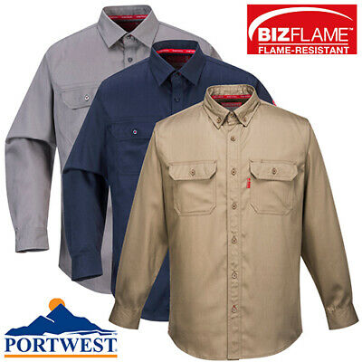 Portwest Flame Resistant FR Button Down Work Shirt ARC 2 Bizflame - All Sizes