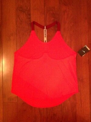 d656f9b35c3a NWT Women s Nike Dri-Fit Loose Fit Elastika Training Tank Top Size XL Coral