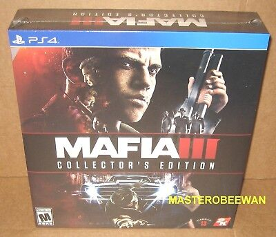 Mafia III: Collector's Edition (Sony PlayStation 4, 2016) PS4 New Sealed