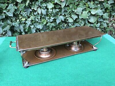 Antique Arts & Crafts Henry Loveridge Copper & Brass Double Burner Chafing Dish