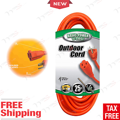 Outdoor Extension Cord Power Heavy Duty Cable Outlet Electrical Outside Wire