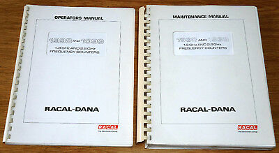 Racal Dana    Frequency Counter    1998 and 1999   Manuals