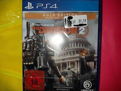 Tom Clancys The Division 2 Gold Edition PS4 spiel the division 2 NEU in Folie !!