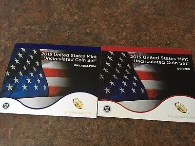 2015 United States Mint Uncirculated P&D Coin Set