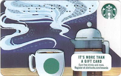 NEW STARBUCKS gift CARD BRAILLE FRENCH PRESS & Iconic Mug 2017 - No $ value
