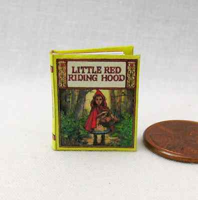 LITTLE RED RIDING HOOD Readable Illustrated Miniature Book Dollhouse 1:12 Scale