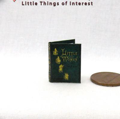 LITTLE WOMEN Miniature Book Dollhouse 1:12 Scale Book Illustrated Readable Book