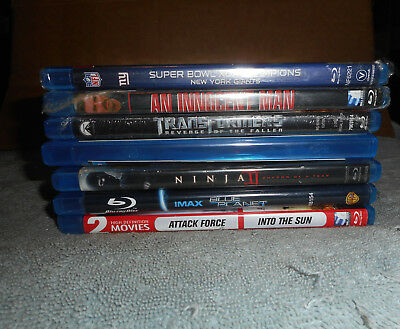 Blu Ray mixed lot of 7 New and Used See Pics for Titles NO JUNK TITLES