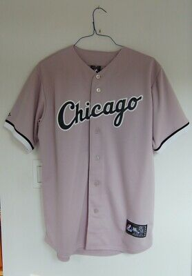 size 40 42d18 8d5d2 CHICAGO WHITE SOX Away Jersey NWT Majestic Size M Road Grey MLB Free  Shipping