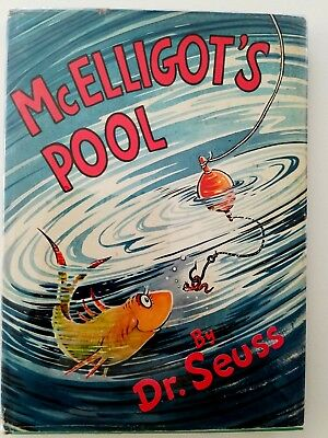 McElligot's Pool, Dr. Seuss. 1947 Hardcover, Dust Jacket, about Fishing