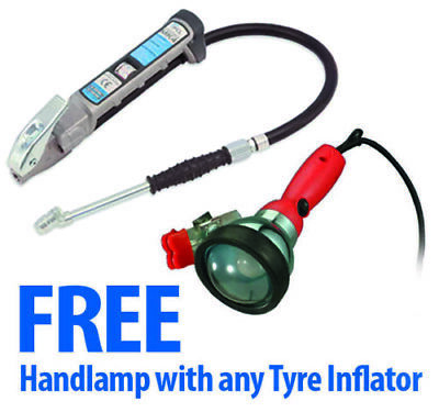 AFG4H03 PCL Air Tyre Inflator Gauge With Twin Hold On With Free Handlamp