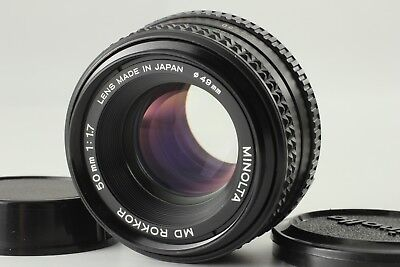 【Near Mint】 Minolta MC ROKKOR PF 50mm f/1.7 MF Lens for MD Mount from Japan #06