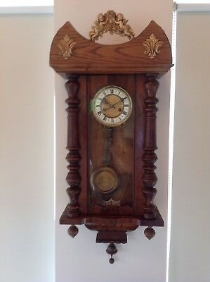 Antique HAC Spring Driven Vienna Wall Clock