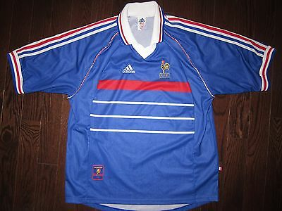 vintage FRANCE 1998-2000 Adidas home shirt XL maillot trikot jersey World Cup