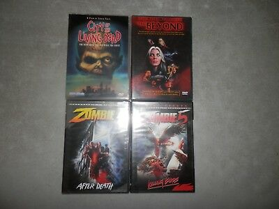 City of the Living Dead The Beyond Zombie 4 5 Lucio Fulci DVD LOT Like New GORE