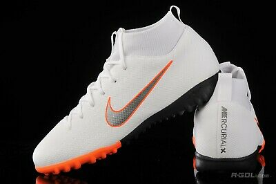 NIKE JR SUPERFLYX VI Academy CR7 TF Turf Soccer Shoes Red