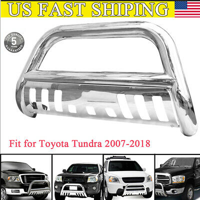 Lund 47121209 Black Bull Bar with Integrated 20 LED Light Bar for 2007-2018 Toyota Tundra; 2008-2018 Sequoia