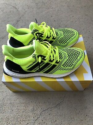 d20260a32 ADIDAS ULTRA BOOST 1.0 Solar Yellow Black Deadstock Size 8.5 ...
