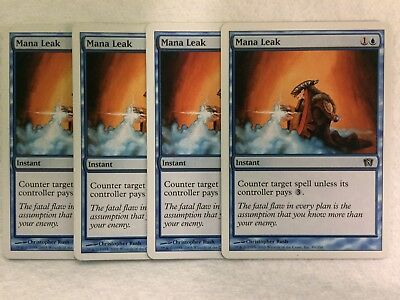Mtg 4x Mana Leak 8th Eighth Edition Pauper Commander Magic Gathering