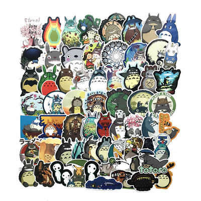 64PC Anime Totoro Sticker Decals for Skateboard Luggage Laptop Phone Decorative