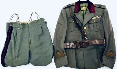 WWII Italian Alpini M34 Officer Uniform, Belt & Holster - Original, Rare!