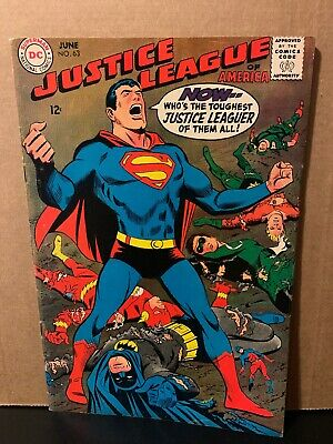 Justice League of America 63 DC Comics Last Sekowsky Issue 1968