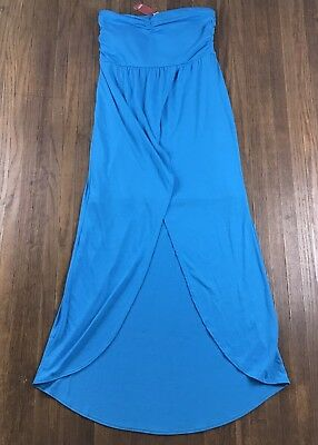 8557e6095 NO BOUNDARIES JUNIOR Halter Maxi Dress with Side Slits Coral Size: M ...