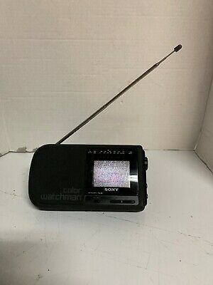 Vintage Sony Color Watchman LCD Color TV and AM/FM stereo # FDL-380 See Details
