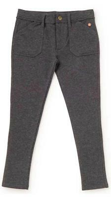 Matilda Jane SEARCH THE SKIES Leggings 10 Gray Sparkle French Terry Make Believe