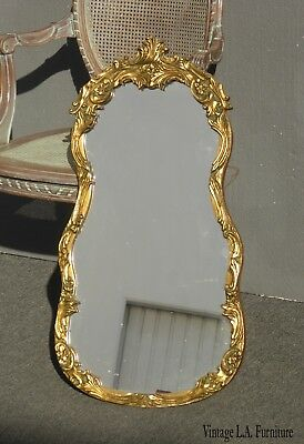 Antique French Provincial Gold Ornate Wall Mantle Mirror